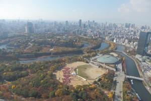 サンタと大阪城2013